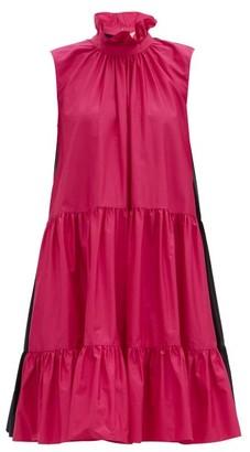 Roksanda Athis Ruffled Cotton-poplin Dress - Pink