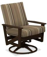 Telescope Casual Wexler Rocking Chair with Cushions Telescope Casual Frame Color: Textured Kona, Cushion Color: Champagne