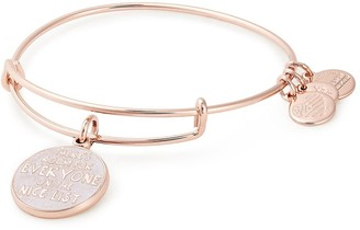Alex and Ani Elf There's Room For Everyone On The Nice List Expandable Wire Bangle Bracelet