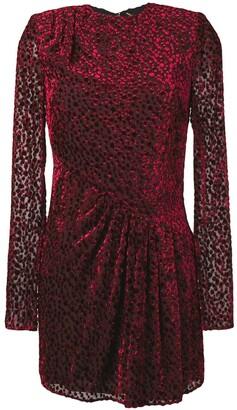 Saint Laurent Dot-Print Sheer Mini Dress