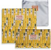 SugarBooger by o.r.e Good Lunch Set of 3 Snack Sack in Pencil