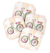DENY Designs Allyson Johnson My new bike Coaster Set
