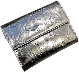 Christian Dior Silver Patent leather Wallets