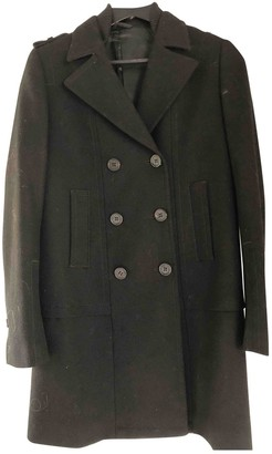 Neil Barrett Black Wool Coat for Women