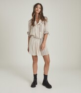 Thumbnail for your product : Reiss Alba - Striped Shirt Dress in Cream