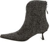Giuseppe Zanotti Woven Herringbone Ankle Boots