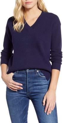 Caslon Waffle Stitch V-Neck Sweater