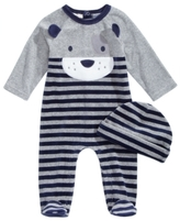 First Impressions 2-Pc. Hat & Puppy Footed Coverall Set, Baby Boys (0-24 months), Created for Macy's