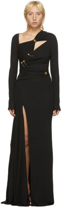 Versace Black Crepe Pin Dress