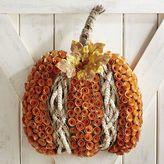 Pier 1 Imports Pumpkin Wood Curl Wreath