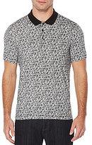 Perry Ellis Pima Leaf-Printed Short-Sleeve Polo Shirt