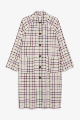 Monki Boxy raglan coat