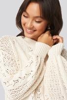 NA-KD Round Neck Pointelle Sweater Beige