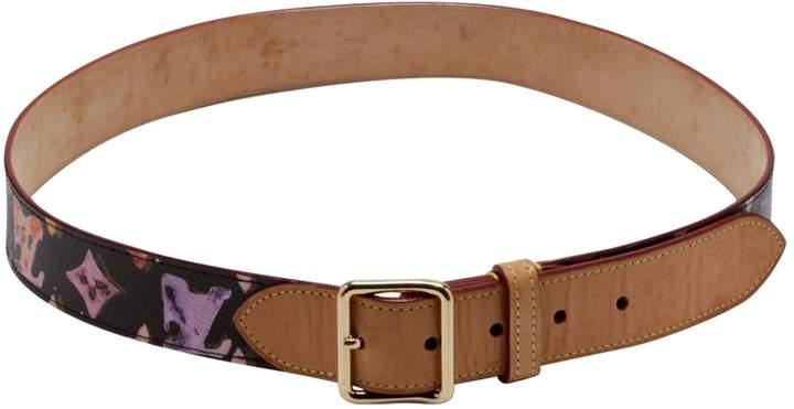 Louis Vuitton Brown Cloth Belt