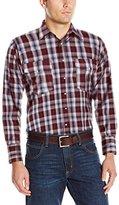 Wrangler Men's Wrinkle Resist Western Two Pocket Long Sleeve Shirt
