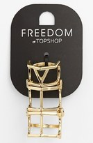 Topshop Cutout Shield Ring