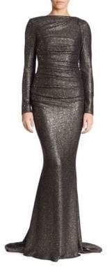 Talbot Runhof Glitter Jersey Gown