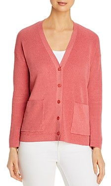 Eileen Fisher Petites Organic Linen-Blend Boyfriend Cardigan