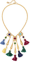 Ben-Amun Gold-tone stone and tassel necklace