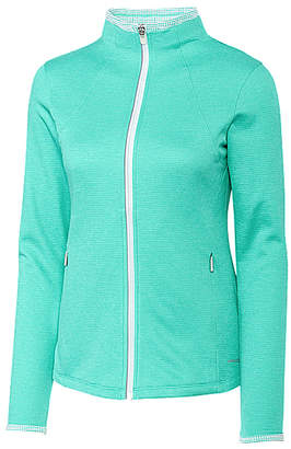 Cutter & Buck Women's Non-Denim Casual Jackets Green - Seafoam Brisk Mock Neck Zip-Up Fleece Jacket - Women