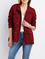 Charlotte Russe Hooded Anorak Jacket