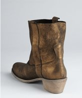 Charles by Charles David gold distressed leather 'Groove' boots
