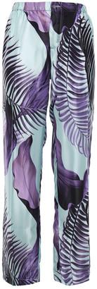 F.R.S For Restless Sleepers Tharos Printed Satin Straight-leg Pants
