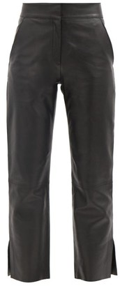 Stand Studio Zoe Cropped Leather Trousers - Black