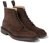 Tricker's - Stow Suede Brogue Boots