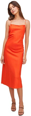 ASTR the Label Women's Sleeveless Square Neckline Bonita Midi Slip Dress