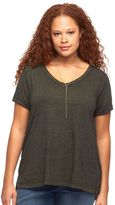 Rock & Republic Plus Size High-Low Hem Tee