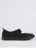 M&S Collection Suede Riptape Pump Shoes