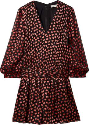 Alice + Olivia Tessie Fil Coupe Chiffon Mini Dress