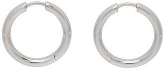 Tom Wood Silver Medium Classic Hoop Earrings
