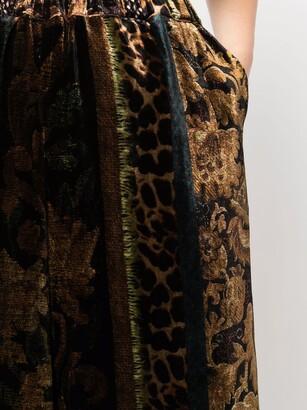Pierre Louis Mascia Animal-Print Wide-Leg Trousers