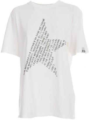Golden Goose T-shirt Adamo Regular S/s Full Values Star/digital/ripped