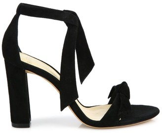 Alexandre Birman Clarita Bow Suede Sandals