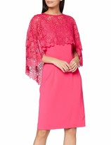 Thumbnail for your product : Gina Bacconi Women's Catriona Crepe Dress with Lace Overcape Mother of The Bride