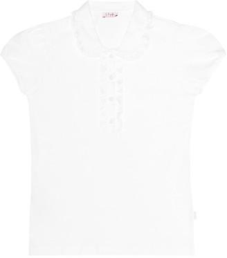 Il Gufo Ruffled cotton shirt