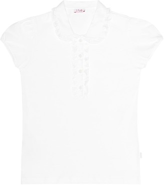 Il Gufo Ruffled cotton shirt