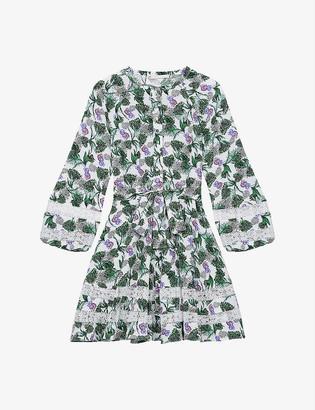 Maje Roman floral-print woven mini dress