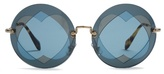 Miu Miu Two Heart-overlay round-frame sunglasses