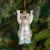 Bloomingdale's Glass Sporting Bear Ornament - 100% Exclusive