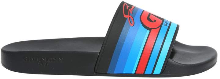 Givenchy Gv Printed Slide Sandals