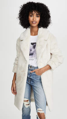 Adrienne Landau Faux Fur Tailored Jacket