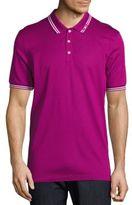 Salvatore Ferragamo Contrast Trim Polo Shirt