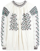 Vanessa Bruno Embroidered beaded cotton blouse