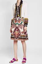 Etro Printed Wool and Silk Skirt