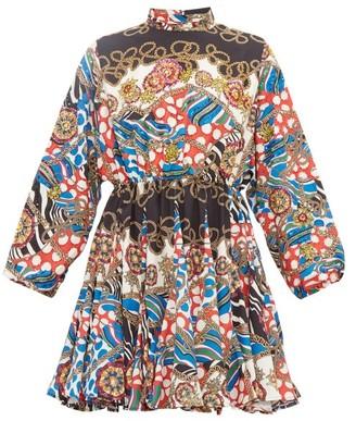 Rhode Resort Caroline Mini Dress - Cream Multi