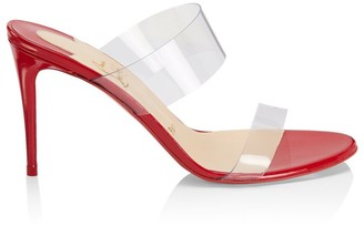 Christian Louboutin Just Nothing PVC & Leather Mules